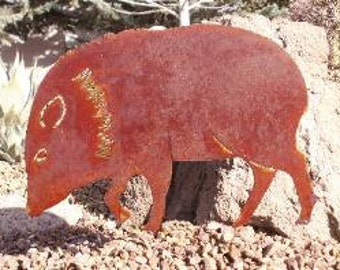 Javelina Metal Yard Art  YA10