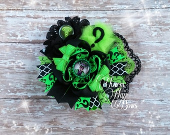 riddler hair bow