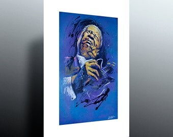 BB King (print) of my original painting