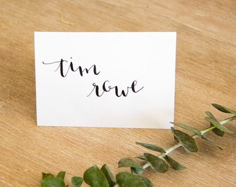 Custom Calligraphy Place Card | Hand Lettered Wedding + Event Place Cards