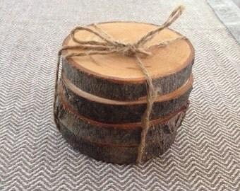 Wood coasters (4)