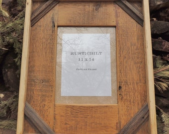 Reclaimed Wood Picture Frame - Rustic Home - Barn Wood Frame - Large Wood Frame - Handmade - Housewares - 11x14 Photo - Christmas Gift