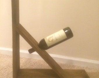 Reclaimed Wood - Single wine bottle wine rack