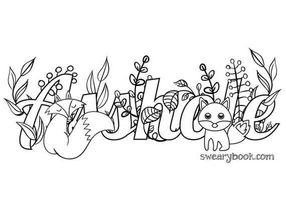asshole coloring page - asshole swear words coloring page from the sweary