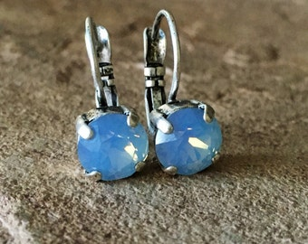 SELECT YOUR COLOR 8mm Swarovski crystal lever-back earrings