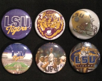 Lot of 10 - LSU Louisiana State University 1'' Buttons/Pins!!!!