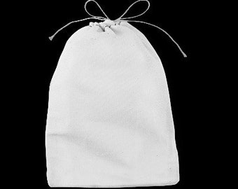 Cotton Bags -7 3/4 inches x 6 1/4 inches - Set of 10