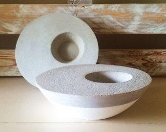 Round Offset Concrete Planter