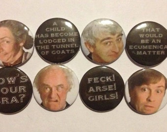 Lil Father Ted Badge Set