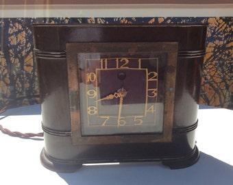 Vintage Bakelite clock Genalex Art Deco