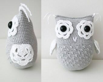 Flower owl, crochet pattern