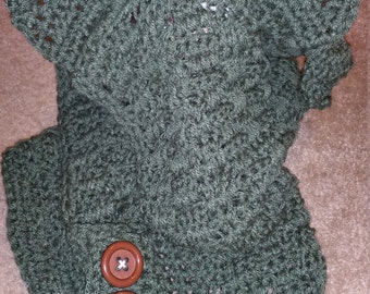 Crocheted Dinosaur Hooded Scarf