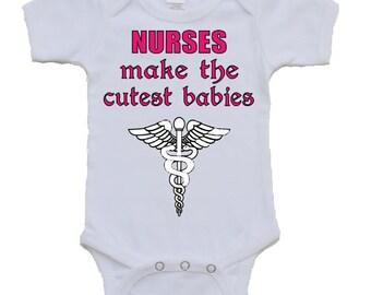 Nurses make the cutest babies On transfer Personalized shirt DIY Digital cute baby printable shirt