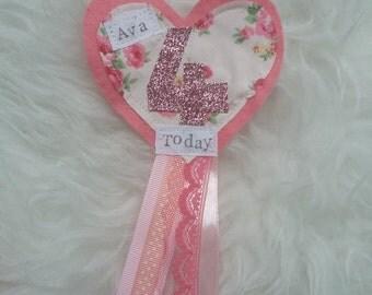 heart birthday badge
