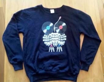 Monster Threads music owl sweatshirt