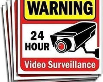Signs Authority Video Security 6-pack Decals Sign for Home/Business