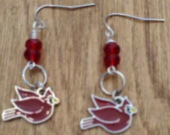 Red Cardinal earrings
