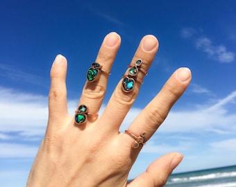 Opal beetle ring