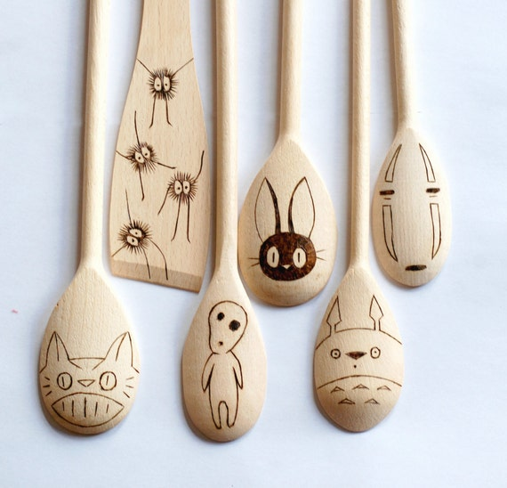 Studio Ghibli - Wooden Spoons Set of 6 Utensils