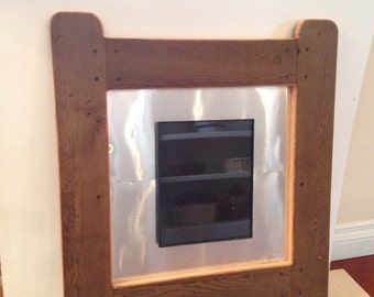 8x10 Barnwood Picture Frame with metal back