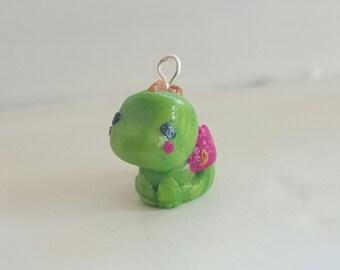 Tiny Dragon Clay Charm