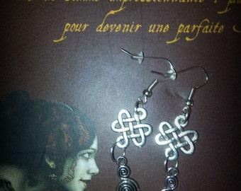 Earrings Celtic medieval goddess