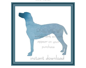 Instant Download Pointer Dog Watercolor Silhouette Poster Art Print 8x10 and 12x12 inch (1200) Printable Room Decor, Wall Decor