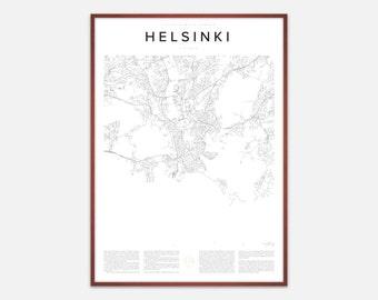 Helsinki Map Print