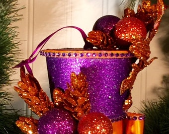 "Tophat Tree Ornament - ""Celebration"""