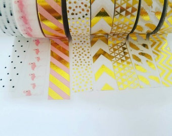 Washi tape samples, washi samples, decorative tape, washi tape, washi, gold foil washi