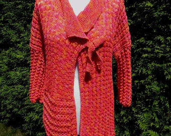 Knit Cardigan * Cardigan * gr. 42-46 * Cotton * handmade plus size