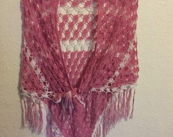 Rose pink shawl