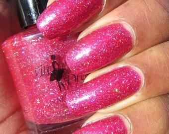 Captivating Crimson Dazzler - red nail polish, glitter nail polish, ruby nail polish, glitter polish