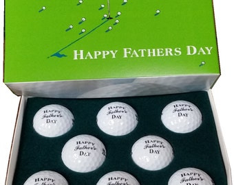 Happy Fathers Day Golf balls and Box Set Nike Mojo