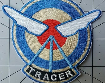 Tracer Overwatch Inspired Embroidered Cosplay Costume Tracer Patch - Sew-on or Iron-On patch - w3.5in x h3.2in