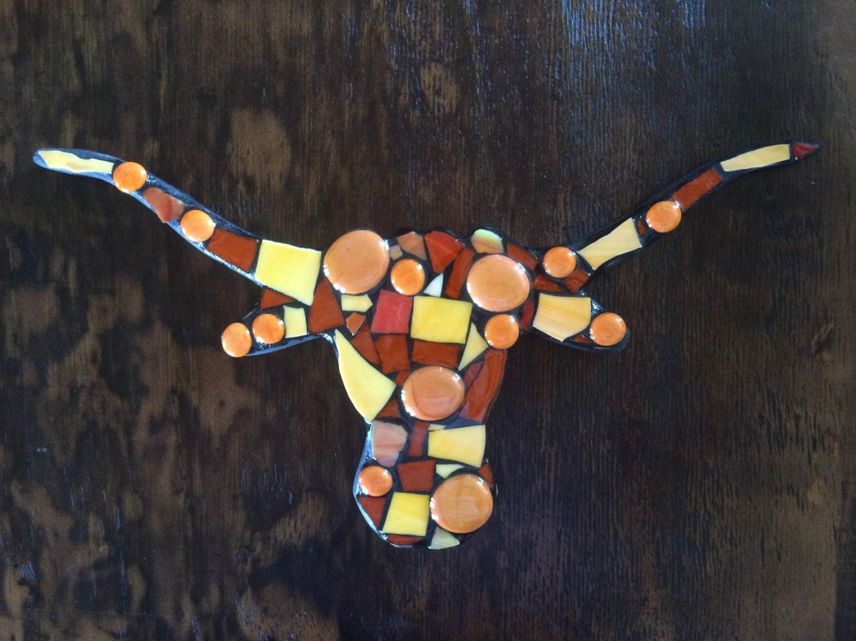 Texas Longhorn Longhorn Decor Mosaic Longhorn Orange By