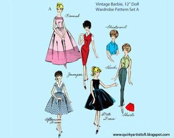 Pattern: Vintage Barbie Doll Wardrobe, Set A