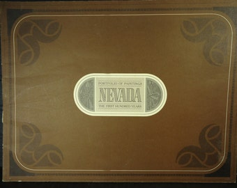 vintage book Portfolio of Paintings Nevada first 100 years