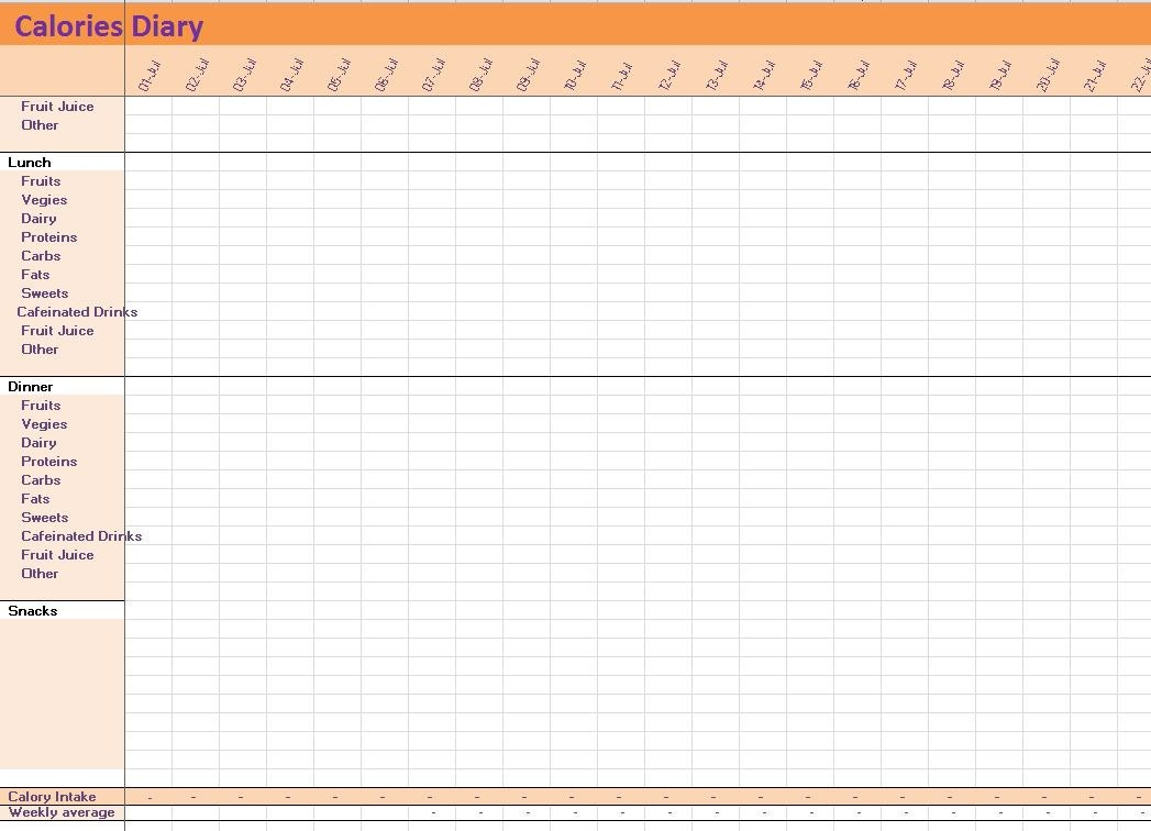 weight tracking spreadsheet