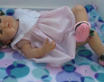Crochet Newborn Hat and Bootie Set