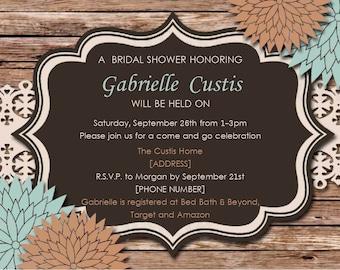 Bridal Shower Invitation- Printable