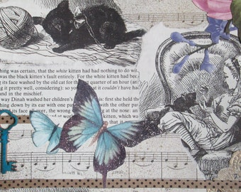 Through the Looking Glass inspired handmade card