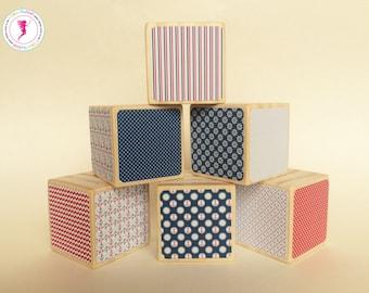 Nautical Wooden Blocks, Decorative Wooden Blocks, Wooden Toys, Sailing