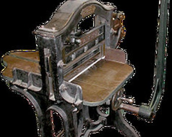 Peerless Gem,antique and functioning,cast iron,paper cutting machine,nice one made in Palmyra,NY