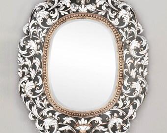 Oblong Handcut Glass Mirror