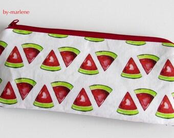 Pencil case / cosmetics bag melon