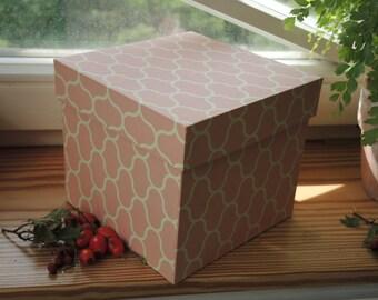 Jewelry box, large box in powder pink