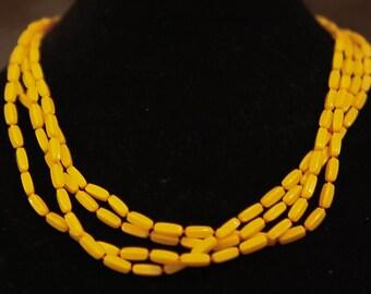 Yellow-Orange Rope Necklace