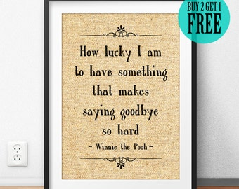 Quotes About Friendship Winnie The Pooh Adorable Winnie The Pooh Quote Burlap Print Pooh & Piglet Disney