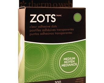 Zots Clear Adhesive Dots Medium - Clear Circle Dots - Raised Circle Dots - Clear Adhesive Dots - Medium Adhesive Dots - Paper Craft Dots